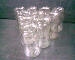 Frascos de vidrio vacios mermelada 13,5 cm x 0,7 cm diametro