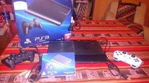 Vendo PS3 slim usada, en buen estado con 8 juegos y 2