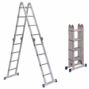 escalera de aluminio plegable articulada multifunción 4,75