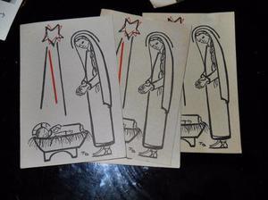 lote 11 postales navideñas antiguas con frase de pablo vl