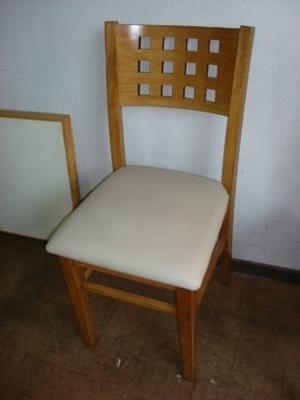 sillas capri y trevi asiento madera o tapizado en madera de