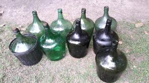 9 Damajuanas de vidrio