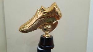 Botín De Oro Trofeo Copa Plástico Con Base De Madera