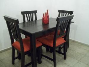 ♥ Comedor 4 sillas !! Flete sin cargo !! Nuevo a Estrenar