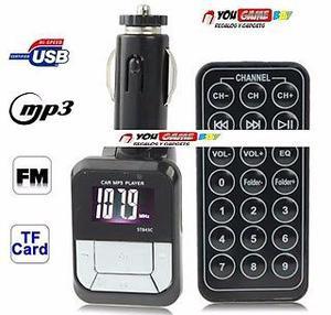 # Reproductor mp3 con modulador fm para Auto Con Control y