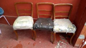 Sillas antiguas para restaurar x 3