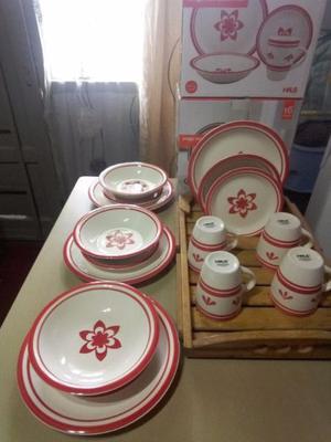 Vajilla cerámica para 4 personas