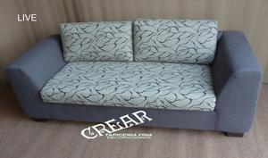 sofa de 3 cuerpos tapizado tela jackard color a eleccion