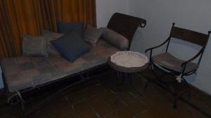 Juego de sillones de hierro forjado