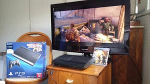 Playstation 3 Super Slim 12gb+joystick+juego The Last Of Us