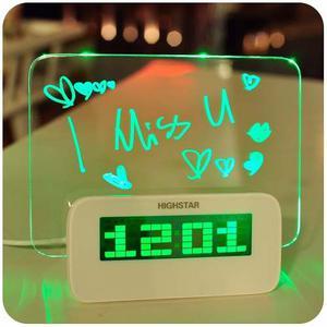 Reloj Despertador Pizarra Led Con Marcador