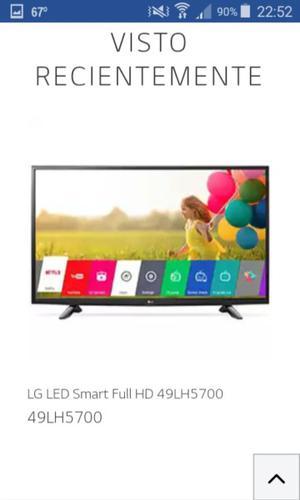 """TV057 SMART TV LED LG 49"""" MOD LH FHD, WIFI, GRABA EN"""