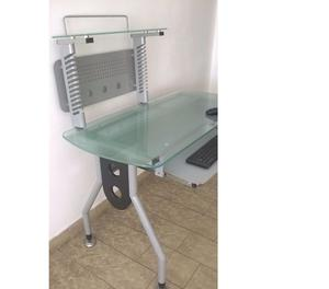 Escritorio pc vidrio centro de trabajo posot class for Vidrio templado mesa