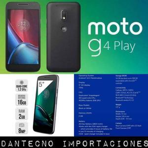 MOTO G4 PLAY 16GB // NUEVOS EN CAJA CERRADA LIBRES