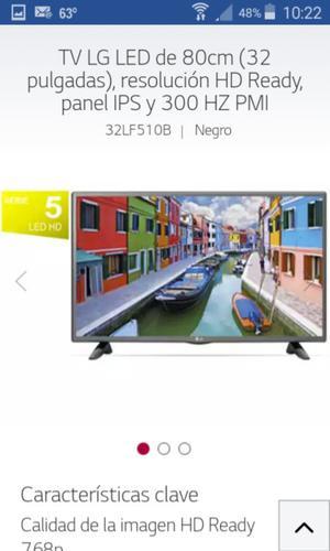 """TV LED LG 32"""" MOD: 510 HDMI / USB"""