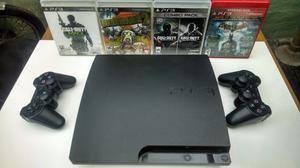 Playstation 3 Slim 320gb + 18 juegos