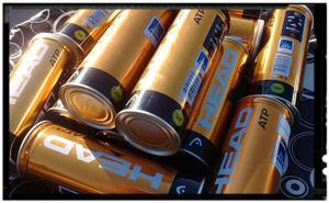 Tubo de Pelotas Tenis - Padle x 3 Ball Head Atp Gold