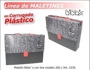 maletin de corrugado plastico con tira! oferta imperdible! !
