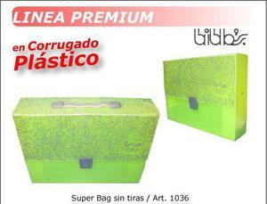 maletin de corrugado plastico modelo super bag sin tira