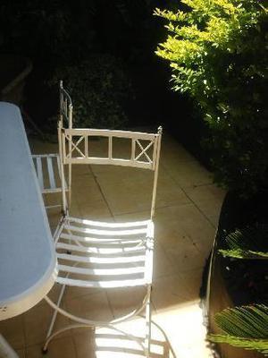 sillas de hierro para jardin