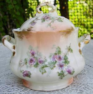 Azucarera Limoges porcelana francesa 100 años art nouveau
