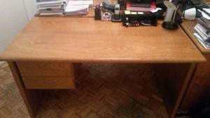 Escritorios de oficina de madera enchapada