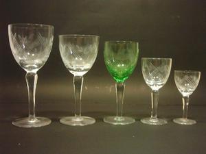 Juego de copas de fino cristal tallado 41 Piezas