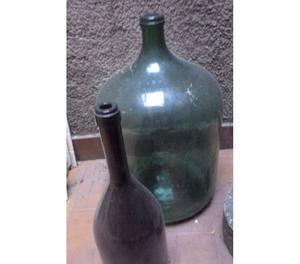 Lote de botellones antiguos y damajuanas