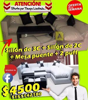 Sofa, sillón, Combo esquinero en L