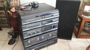 equipo de audio Grundig  completo + CD player Sanyo CPM