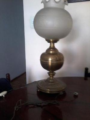 lampara para mesa de comedor con luz bronce puro con tulipa