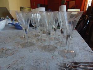 Copas de Champagne flauta Campana antiguas