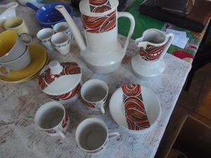 Juego de café de porcelana de Magdalena, años 60