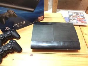 PlayStation 3 Slim + 2 joystick + 9 juegos + 2 guitarras +