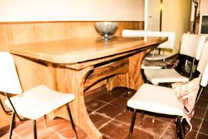 Juego de mesa extensible con 6 sillas c rdoba posot class for Juego mesa cocina