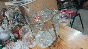jarra ponchera de cristal