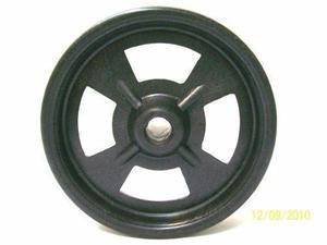 rueda de plastico ø100 para uso industrial y hogareño.