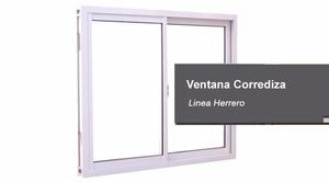 ventana linea herrero 1 x 1 corrediza vidrio entero