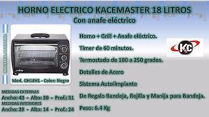 Horno Electrico Kacemaster Gh18h1 Con Anafe 18 Litros Envios