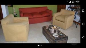 Sillon silla reposera sillones en tela posot class for Juego de sillones