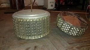 LAMPARA DE CRISTAL...30 Y 25CM DE DIAMETRO