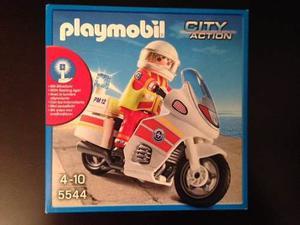Playmobil City Action  Moto Emergencia Con Luz
