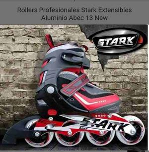Rollers Profesionales Stark Extensibles Aluminio Abec 13 New