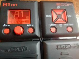 Zoom B1 On Pedal Para Bajo En Caja Igual A Nuevo Similar B3