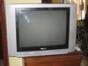 """TV PHILIPS 21 """" PANTALLA PLANA COMO NUEVO EN IMPECABLE"""