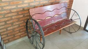 Banco madera rustico