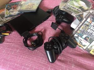 Playstation 2 slim con 2 Controles