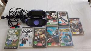 Psp, Play Station Portatil Con 8 Juegos Originales.
