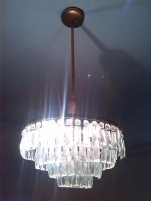 Araña Con Caireles De Cristal Para 6 Lámparas
