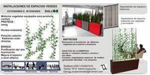 Instalaciones de espacios interior y exterior